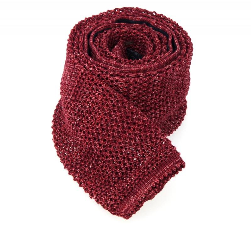 Breuer Krawatte in kastanienbraunen Strickheide