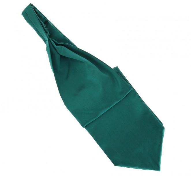 Smaragdgrüner Plastron (Ascotkrawatte) - Ascot