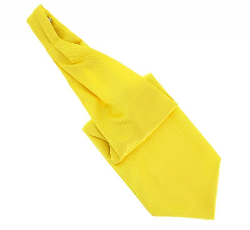 Gelbes Plastron Krawatte - Ascot III