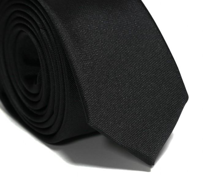 Schwarze Slim-Krawatte - Sienne II