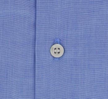 Blaues Ton in Ton slim-fit Hemd mit kleinem Kragen und einfachen Manschetten