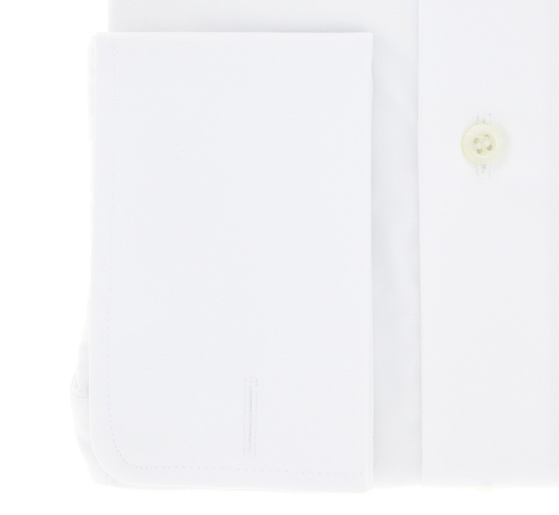 weisses slim fit popeline hemd mit umschlagmanschette mit klappkragen. Black Bedroom Furniture Sets. Home Design Ideas