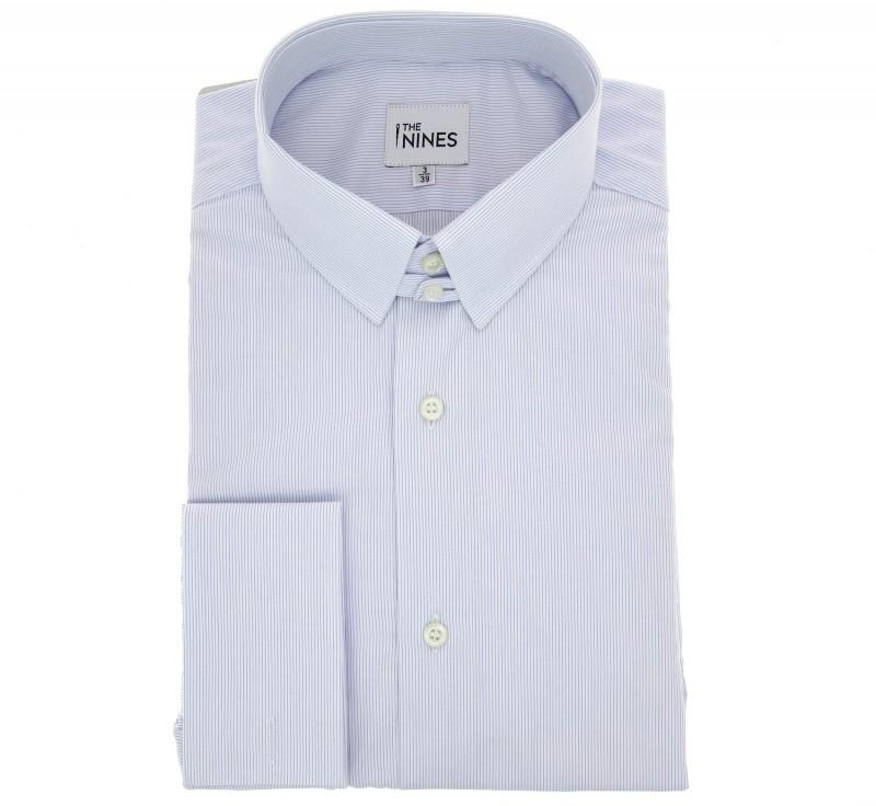 popeline hemd mit umschlagmanschette mit englischem kragen haus der herren hemden. Black Bedroom Furniture Sets. Home Design Ideas