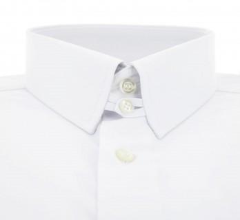 Weisses doppeltgen?htes regular-fit Popeline-Hemd mit englischem Kragen