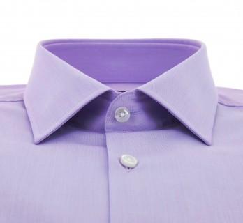 Veilchenfarbendes slim-fit Dobby Hemd von Hugo Boss mit italienischem Kragen und einfache Manschetten