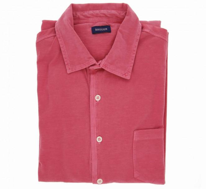 Chemise Breuer jersey vintage rose coupe ajustée