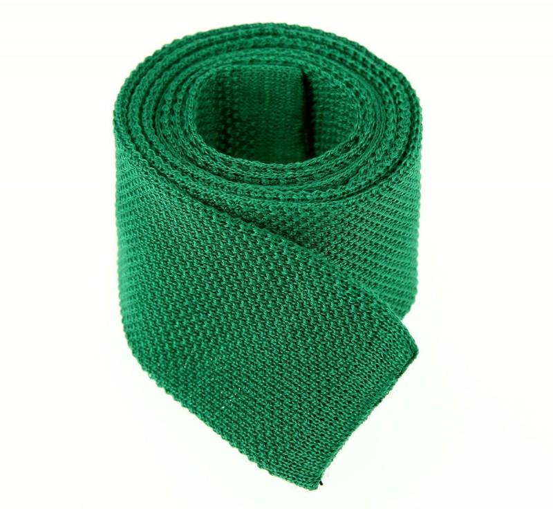 Grüne Baumwolle Strickkrawatte - Novare